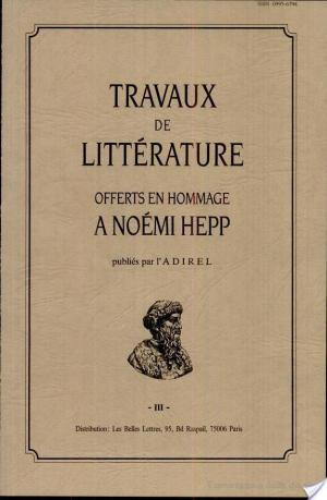 Affiche Travaux de Litterature