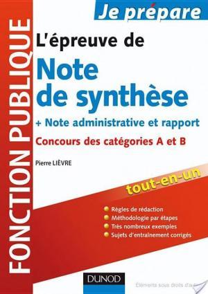 Affiche L'épreuve de note de synthèse - 2e édition