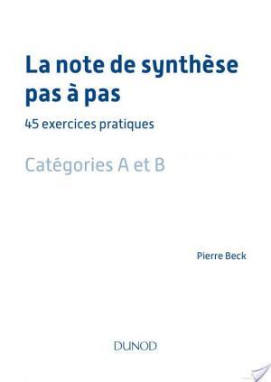 Affiche La note de synthèse pas à pas - 45 exercices pratiques