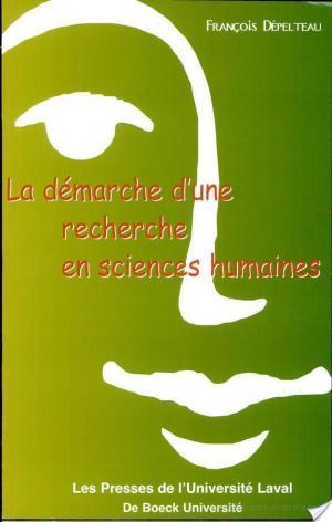 Affiche La démarche d'une recherche en sciences humaines