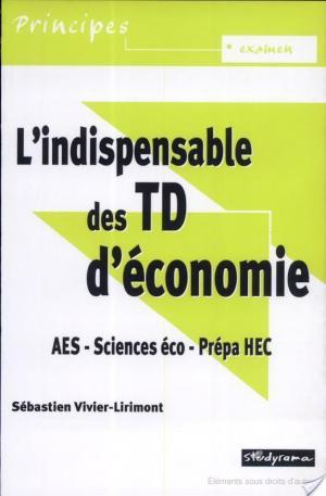 Affiche L'indispensable des TD d'économie