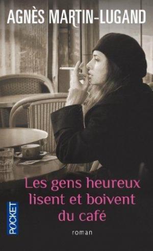 Affiche Les gens heureux lisent et boivent du café