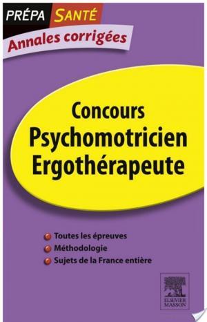 Affiche Annales corrigées Concours Psychomotricien Ergothérapeute