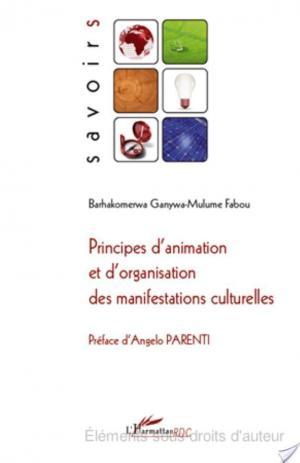 Affiche Principes d'animation et d'organisation des manifestations culturelles