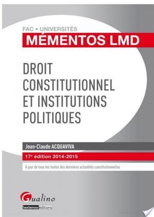 Affiche Droit constitutionnel et institutions politiques 2014-2015