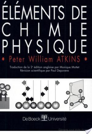 Affiche Éléments de chimie physique