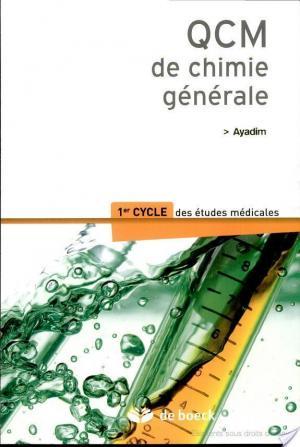 Affiche QCM de chimie générale