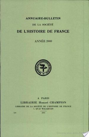 Affiche Annuaire-bulletin de la société de l'histoire de France