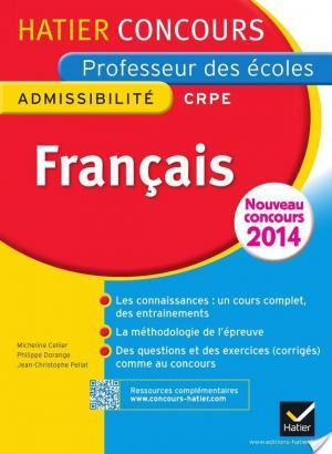 Affiche Concours professeur des écoles 2015 - Français Tome 1 - Epreuve écrite d'admissibilité