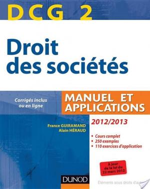 Affiche DCG 2 - Droit des sociétés 2012/2013 - 6e éd.