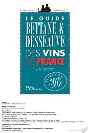 Affiche Guide Bettane et Desseauve des vins de France 2013