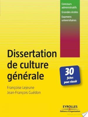 Affiche Dissertation de culture générale