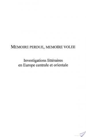 Affiche Mémoire perdue, mémoire volée