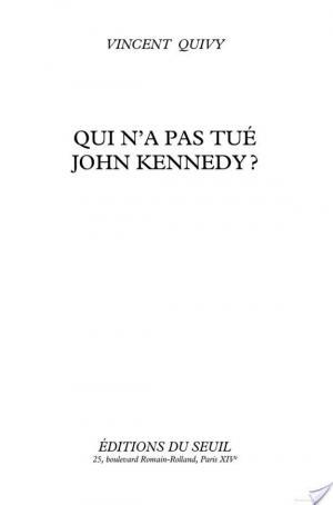 Affiche Qui n'a pas tué John Kennedy?