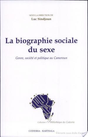 Affiche La biographie sociale du sexe