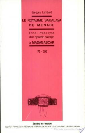 Affiche Le royaume sakalava du Menabe, 17è-20è
