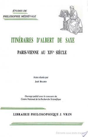 Affiche Itinéraires d'Albert de Saxe