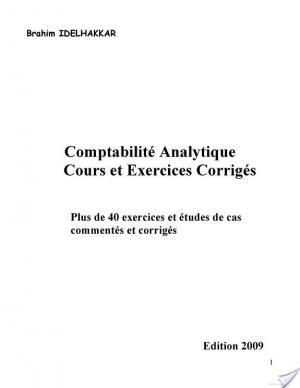 Affiche Comptabilité analytique cours et exercices corrigés