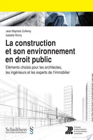 Affiche La construction et son environnement en droit public