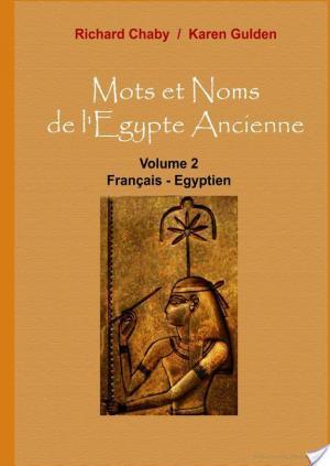 Affiche Mots et Noms de l'Egypte Ancienne
