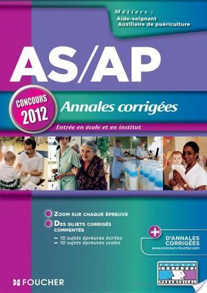 Affiche AS/AP Annales corrigées Concours 2012