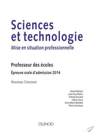 Affiche Sciences et technologie - Mise en situation professionnelle - Admission 2014