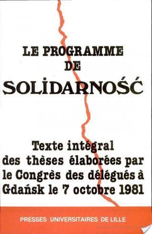 Affiche Le programme de Solidarność