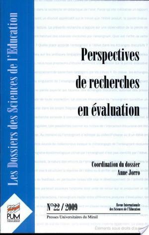 Affiche Perspectives de recherches en évaluation