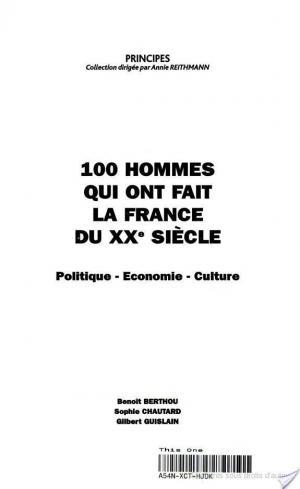 Affiche 100 hommes qui ont fait la France du XXe siècle