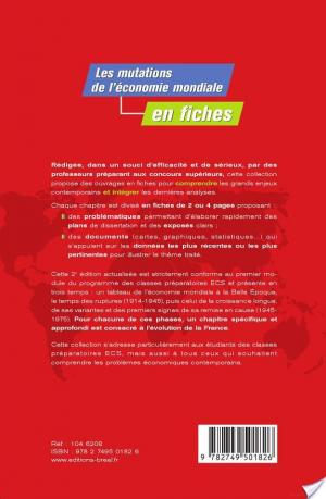 Affiche Les mutations de l'économie mondiale du début du XXe siècle aux années 1970 en fiches