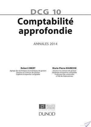 Affiche DCG 10 - Comptabilité approfondie