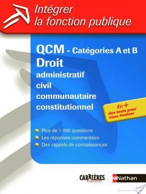 Affiche QCM - Droit administratif, civil, communautaire, constitutionnel