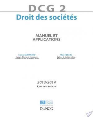 Affiche DCG 2 - Droit des sociétés 2013/2014 - 7e éd.