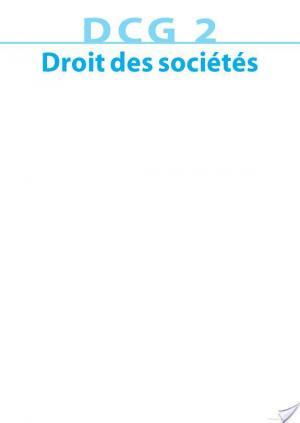 Affiche DCG 2 - Droit des sociétés 2013/2014 - 6e édition