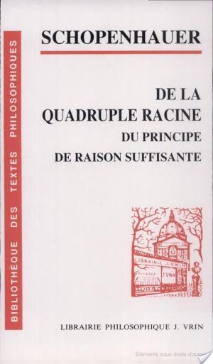 Affiche De la quadruple racine du principe de raison suffisante