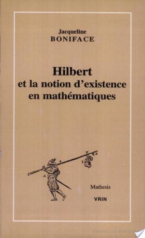 Affiche Hilbert et la notion d'existence en mathématiques