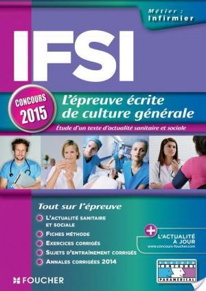 Affiche IFSI L'épreuve écrite de culture générale - Concours 2015 -
