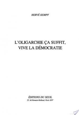 Affiche L'Oligarchie, ça suffit, vive la démocratie
