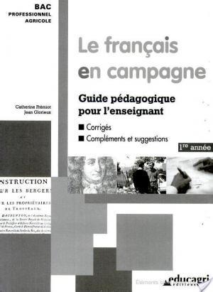 Affiche Français en campagne : Guide pédagogique (1ére année) (Le)