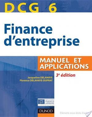 Affiche DCG 6 - Finance d'entreprise - 3e édition - Manuel et applications