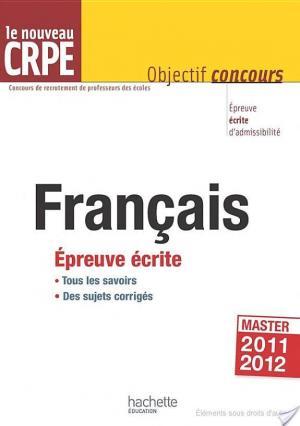 Affiche Le français au nouveau CRPE - Épreuve écrite d'admissibilité