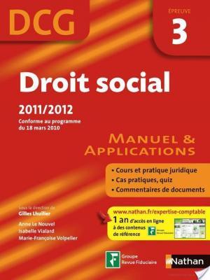 Affiche Droit social - DCG - épreuve 3 - Manuel et applications
