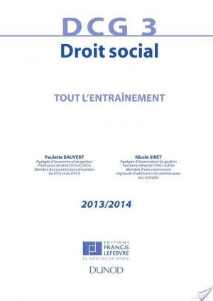 Affiche DCG 3 - Droit social 2013/2014 - 6e édition