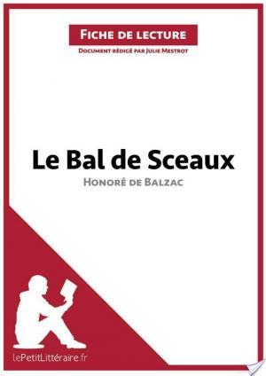 Affiche Le Bal des Sceaux d'Honoré de Balzac (Fiche de lecture)