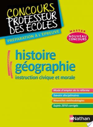 Affiche Histoire Géographie Instruction civique et morale
