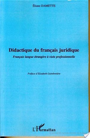 Affiche Didactique du français juridique