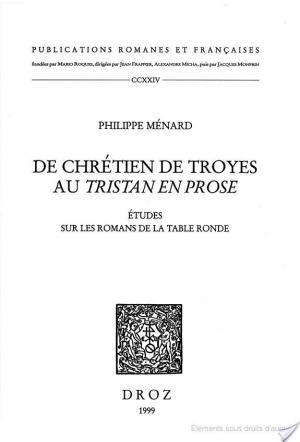 Affiche De Chrétien de Troyes au Tristan en prose