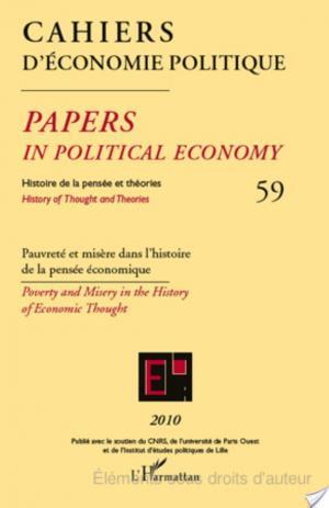 Affiche Pauvreté et misère dans l'histoire de la pensée économique