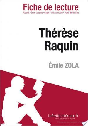 Affiche Thérèse Raquin de Émile Zola (Fiche de lecture)