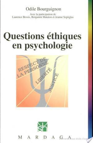 Affiche Questions éthiques en psychologie